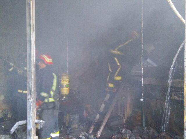 آتش سوزی در بازار حرمخانه تبریز ۱ کشته برجای گذاشت