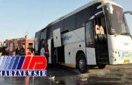 حادثه آتشسوزی اتوبوس مسافران در ایلام