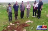 گلوله خمپاره عمل نکرده در قصرشیرین کشف شد