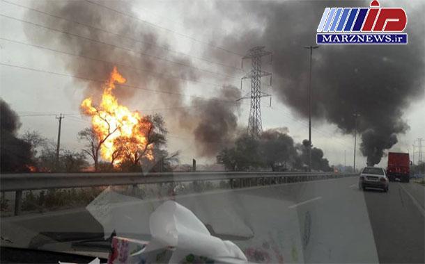 آتشسوزی در خط لوله گاز در برومی/ ۲ نفر جان باختند