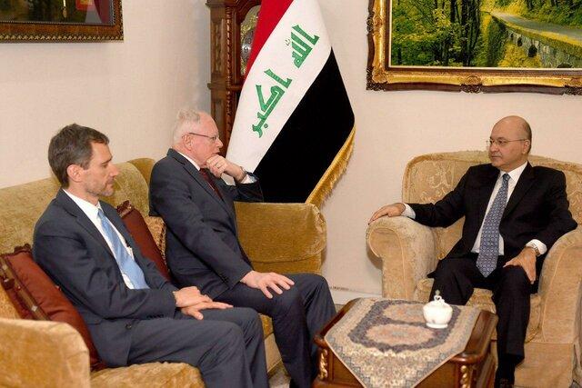 دیدار رئیسجمهور عراق با فرستاده آمریکا در ائتلاف ضد داعش