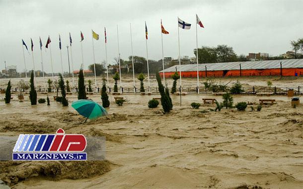 شرق مازندران غرق در سیلاب