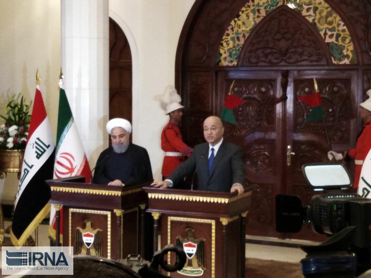 صالح: برای رفع موانع همکاری با ایران تلاش می کنیم
