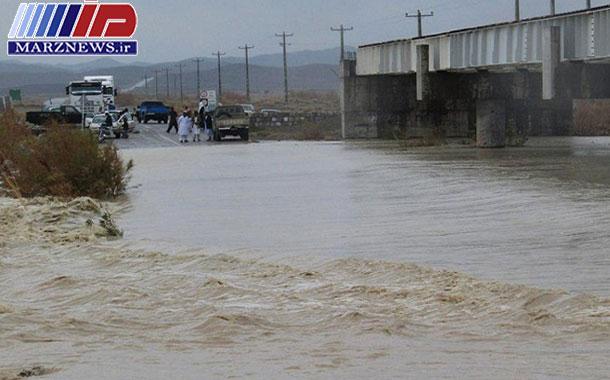 سیلاب ۲ مسیر در جنوب سیستان و بلوچستان را بست