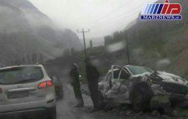 ریزش کوه در جاده سوادکوه یک کشته برجا گذاشت