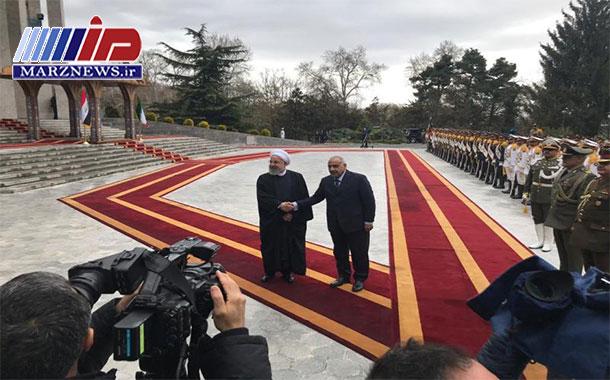 رییس جمهوری ایران از نخست وزیر عراق استقبال رسمی کرد