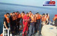 ۱۶سرنشین کشتی سانحه دیده در خلیج فارس نجات یافتند