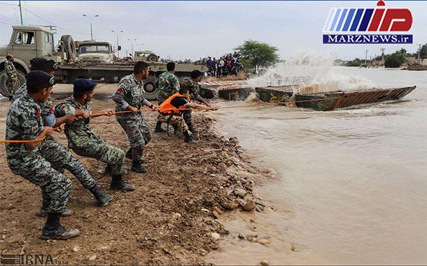نیروهای مسلح بحران سیل را به خوبی کنترل کردند