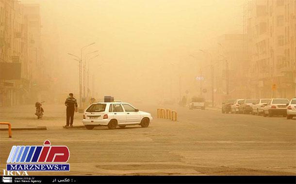 غلظت گرد و غبار در اهواز به ۷٫۸ برابر حدمجاز رسید
