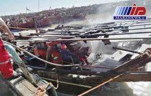 شناور صیادی در اروندکنار آبادان آتش گرفت