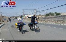 دوچرخه سوار ساوه ای به بوشهر رسید