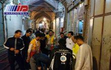 شمار مصدومان آتش سوزی بازار تبریز به ۱۶ نفر رسید