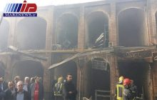 ۱۲۰مغازه در آتش سوزی بازار تبریز آسیب دید