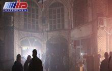 آسیب بازار تبریز از آتش سوزی اندک است