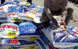 هفت تن برنج قاچاق در مرز پرویزخان کشف شد