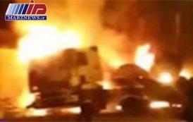 انفجار تانکر سوخت در مرز دوغارون با یک مصدوم