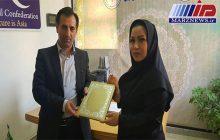 تجلیل ازمدیرروابط عمومی اداره کل ورزش و جوانان استان اردبیل
