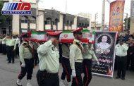 پیکر شهید «کوروش حاجی مرادی» در اسلام آبادغرب تشییع شد