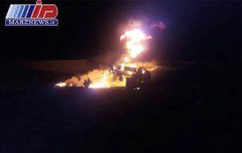 انفجار تانکر مواد سوختنی در ایذه یک کشته برجا گذاشت