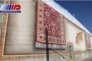 زیبایی فرش تبریز بر دیوار شهر نقش بست