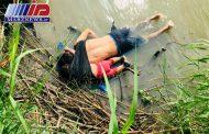 نخستین عکس از جسد بی جان این پدر و دختر السالوادوری از سوی یک خبرنگار مکزیکی گرفته شده است.