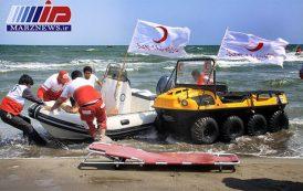 امدادگران ۴۰۰ حادثه دیده را در سواحل خزر نجات دادند