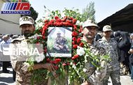 پیکر شهید سیدهادی اجاق در قروه تشییع شد