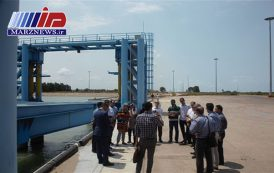 تکمیل اسکله رو رو ریلی بندرامیرآباد زودتر از زمان تعیین شده