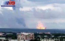 هشت مجروح و یک کشته در آتشسوزی انبار مهمات در روسیه