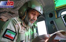 پایش هوایی مرزهای استان آذربایجان غربی توسط فرمانده مرزبانی