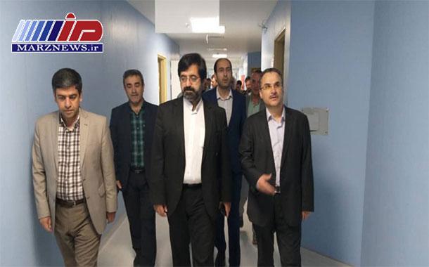 بازدید از بخش های مختلف مرکز تروما وسوختگی بیمارستان امام خمینی ره اردبیل
