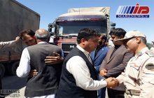 ارسال محموله کمک به سیل زدگان افغانستان از مرز دوغارون