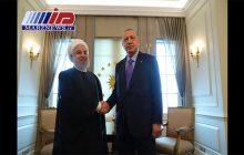دیدار دوجانبه روسای جمهور ایران و ترکیه آغاز شد