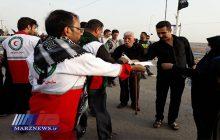 هلال احمر در ۴ پایانه مرزی خراسان رضوی به زائران اربعین خدمات رسانی می کند