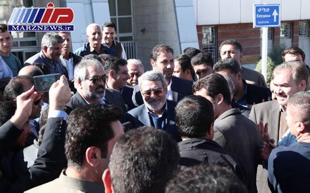 بازدید وزیر کشور از مرز و پایانه مرزی باشماق