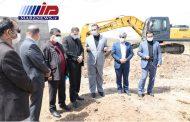 بازدید از عملیات خاکبرداری مخزن زون 3 آبرسانی خلخال