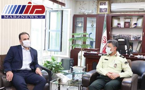 دیدار مدیرعامل منطقه ویژه اقتصادی پیام با فرمانده پلیس فرودگاه های كشور