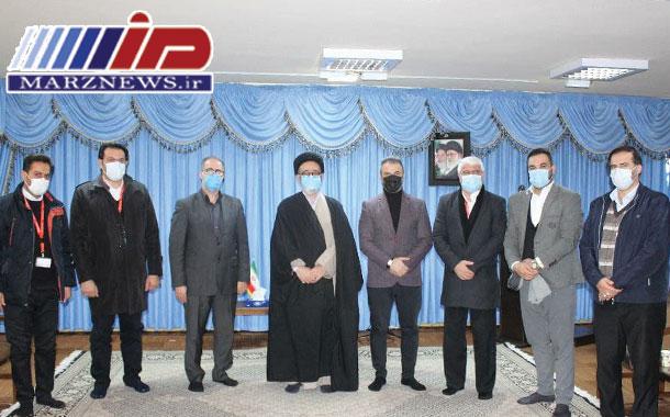 دیدار مدیرعامل شرکت هواپیمائی آتا با نماینده ولی فقیه در استان آذربایجان شرقی