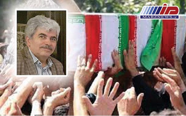 مراسم تشییع پیکر حاج محمدرضا دیده بان در اردبیل برگزار شد