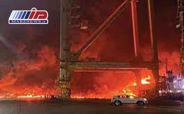 انفجار در بندر جبل علی دبی