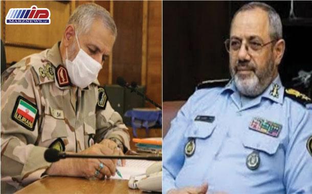 پیام تبریک فرمانده مرزبانی ناجا بمناسبت انتصاب جانشین رئیس ستاد کل نیروهای مسلح