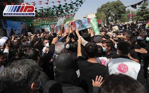 پیكر پاك شهید مدافع حرم پس از ۶ سال در كرج آرام گرفت