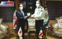 دیدار رئیس پلیس مبارزه با مواد مخدر ناجا و سفیر ژاپن در تهران